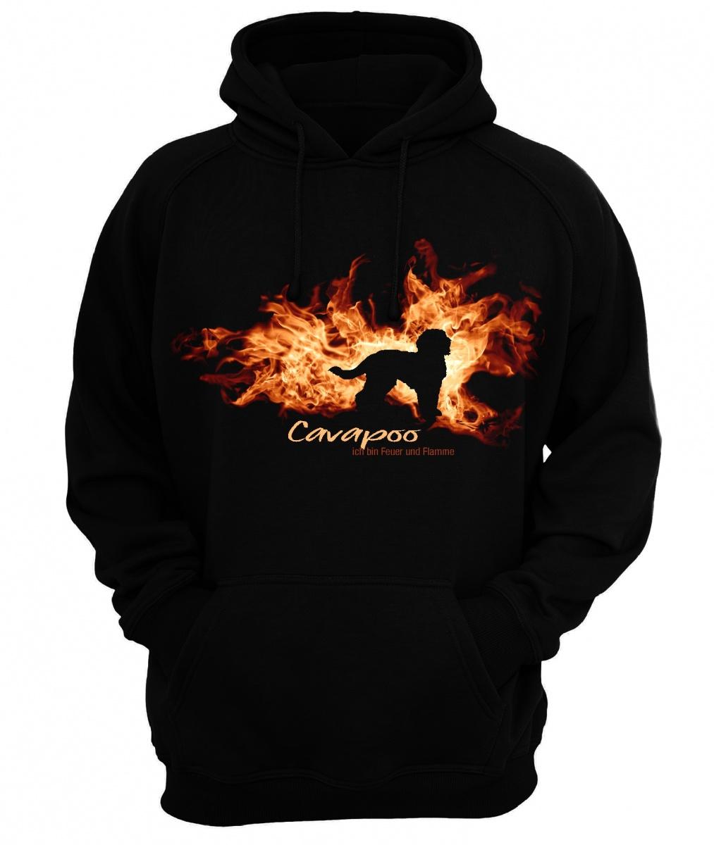 Sweatshirt CAVAPOO FEUER UND FLAMME by Siviwonder Hoodie   | Modisch  | Shopping Online  | Üppiges Design
