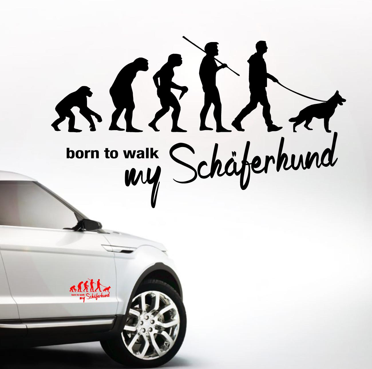 Auto Aufkleber Evolution Schäferhund