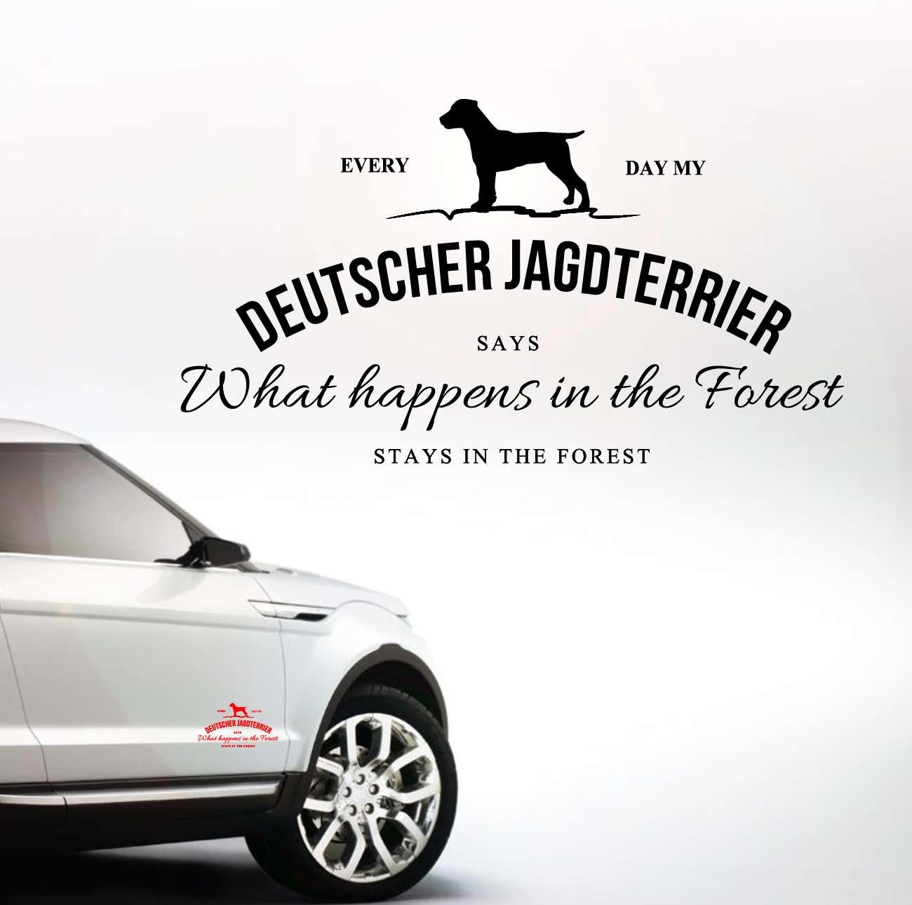 Auto Aufkleber Vintage Logo Deutscher Jagdterrier
