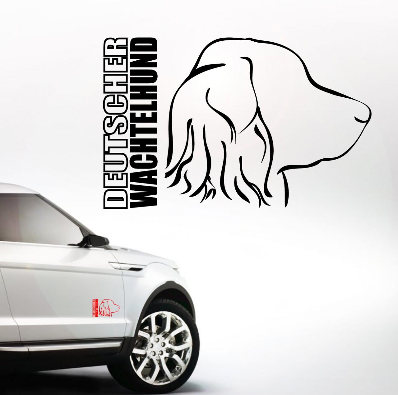 Auto Aufkleber Profil Deutscher Wachtelhund By Wilsigns