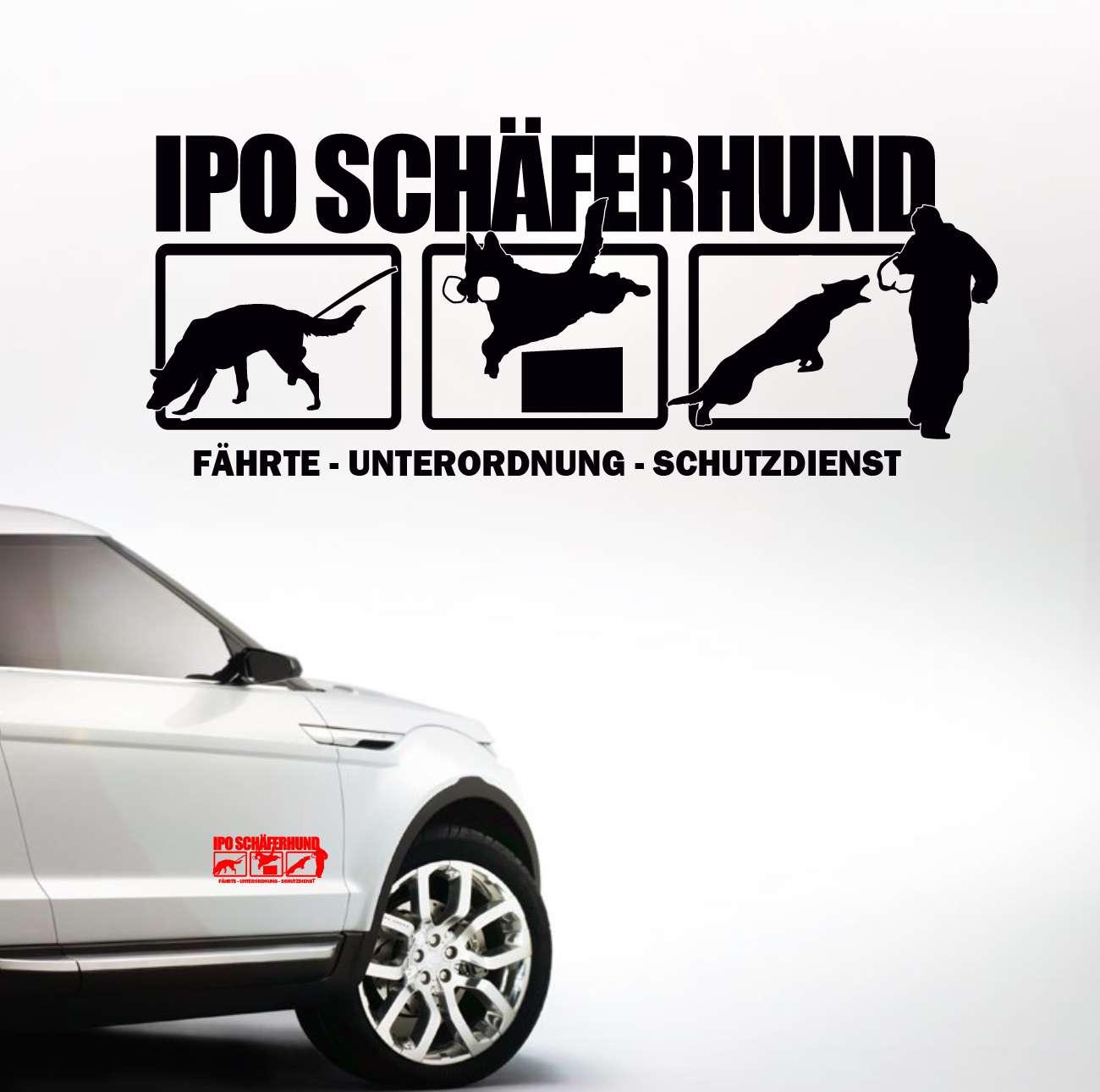 Auto Aufkleber Ipo Schäferhund